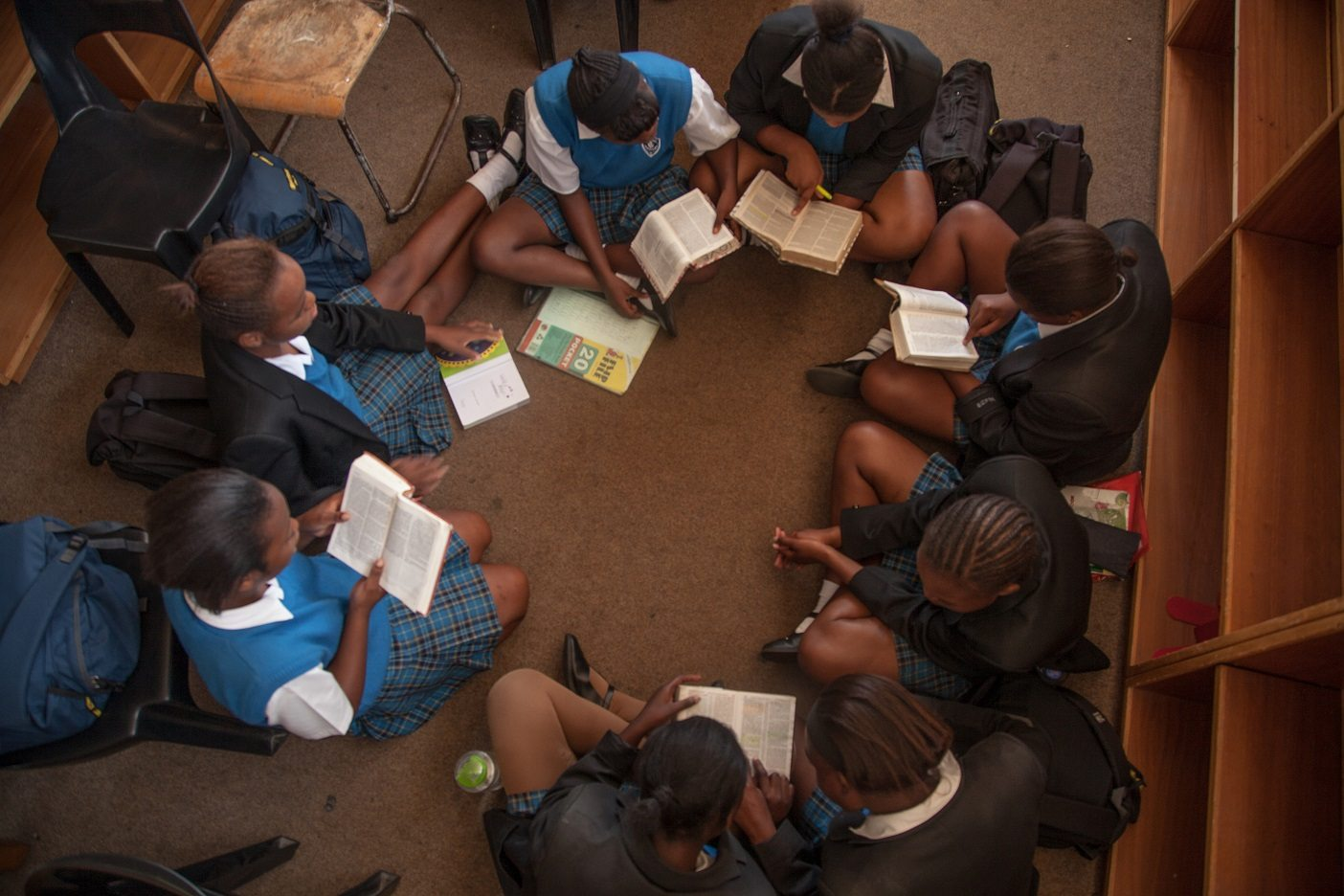 Learners of Immaculata High School utilize the library which Mimi and her team are working on revamping.