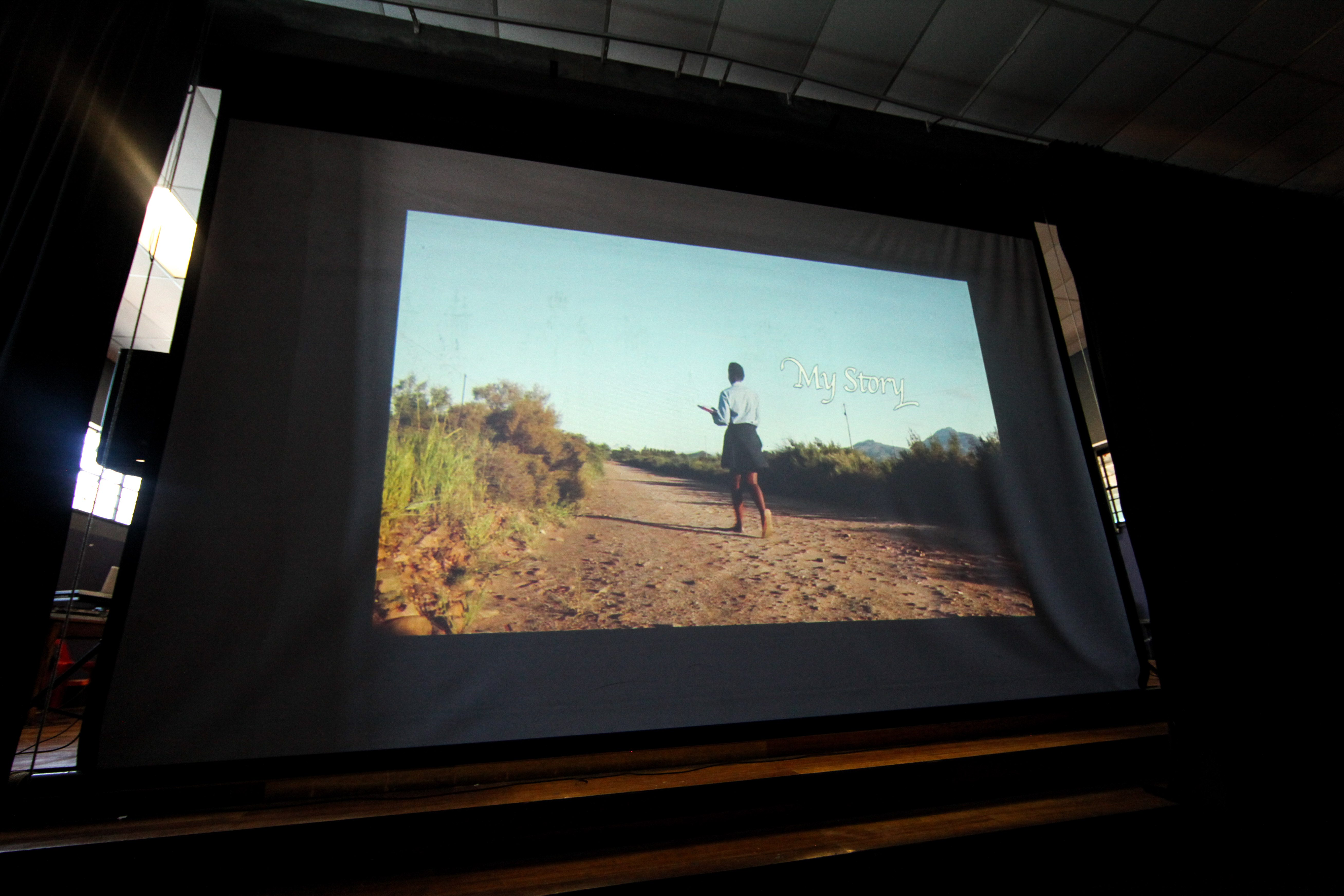 The short film 'My Story' being screening at Dineo's event