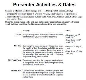 Ignition Program Dates