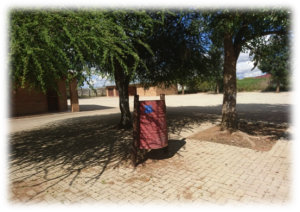 Picture of Dustbins Installed at Dendron by 2017 Trailblazers