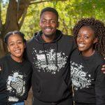 Our 2017 Trailblazer Support Team (from left) Tidimalo Moeketsi, Ndumiso Caba & Katlego Llale