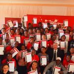 Trailblazers with their certificates