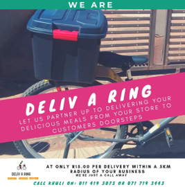 WhatsApp advert of Deliv-A-Ring